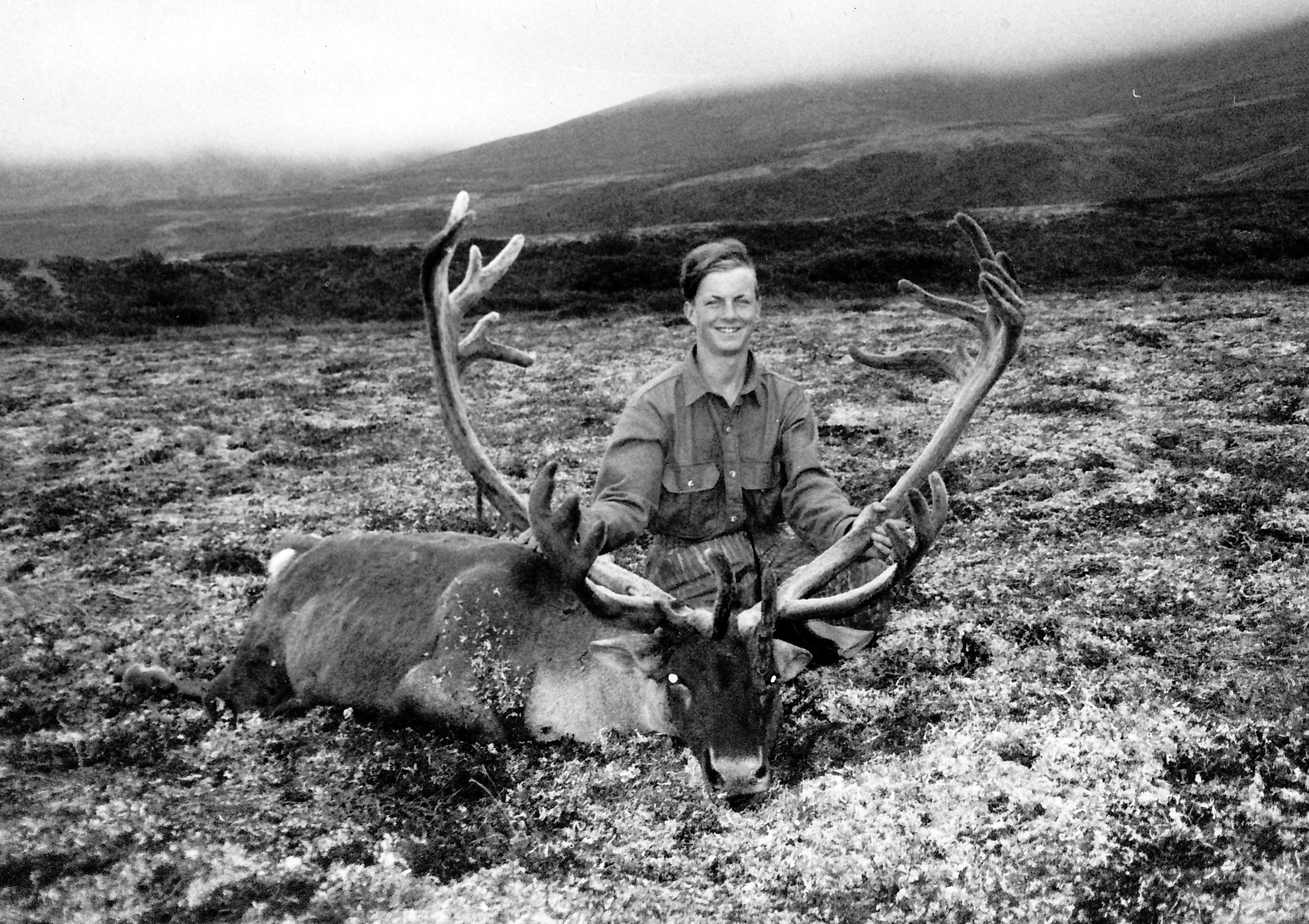 Brian Wittman of MT, age 15, was our youngest hunter to take a B&C caribou, a wide 401 6/8 B&C. He was on a 2x1 hunt with his father who shot a 395 B&C. I helped Steve Lanphier guide this father/son.