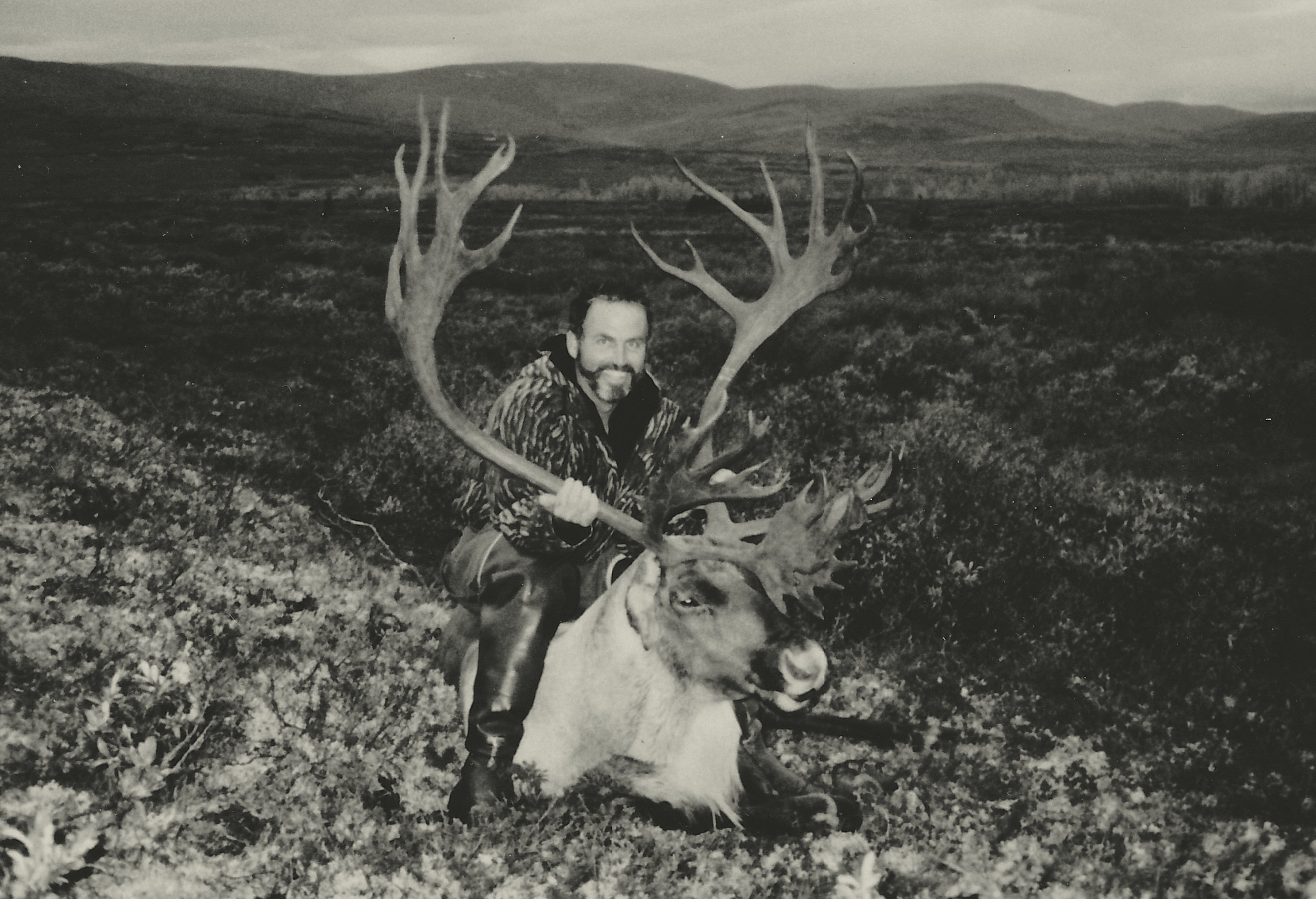 Jay White of NC with his giant 420 B&C caribou. Jay's guide was John Koldeway.