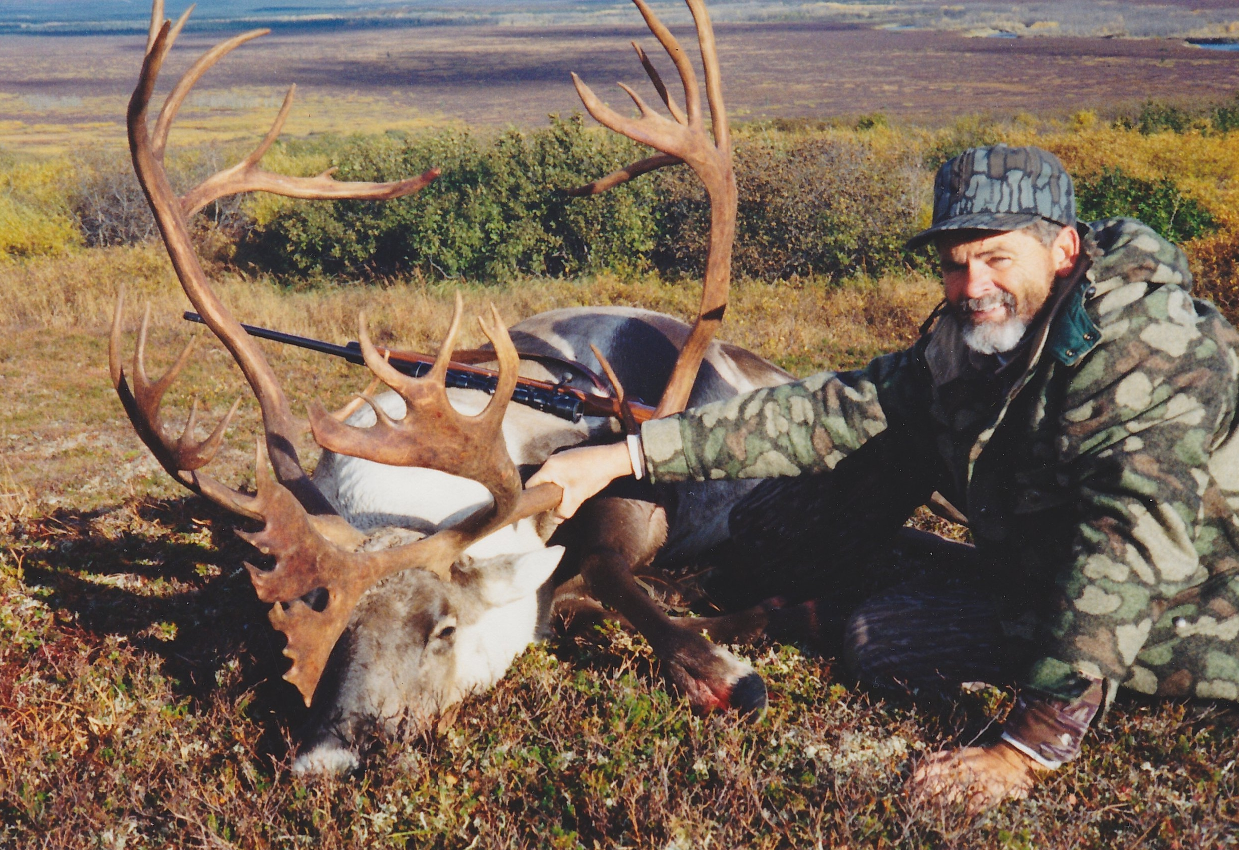 Larry Berry of MO with his beautiful 421 B&C caribou. I don't think this picture does this caribou justice. It was really a monster. Larry was guided by Steve Lanphier.