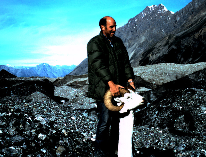 """Chuck back at base camp with his """"double broomed"""" 36"""" ram."""