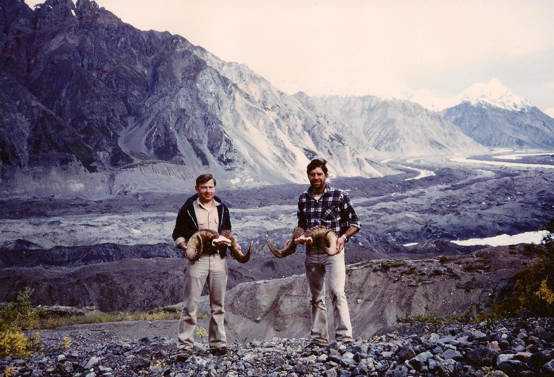 "Ron and me with our two big rams. His 40"", a 170 B&C and mine a 41"" 165 B&C."