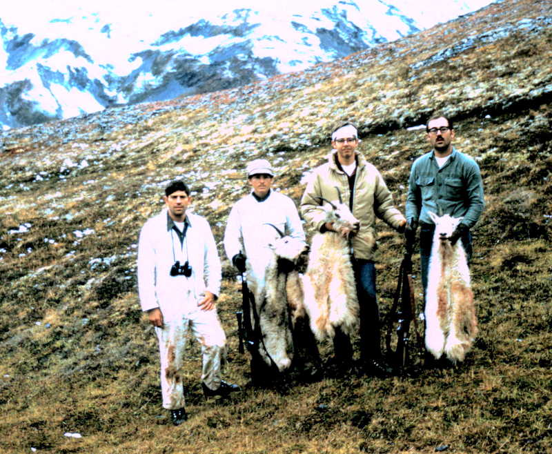 (R to L) Earl Boucher, Bob Bulter, Marv Buckley and myself on one of our many successful goat hunts.