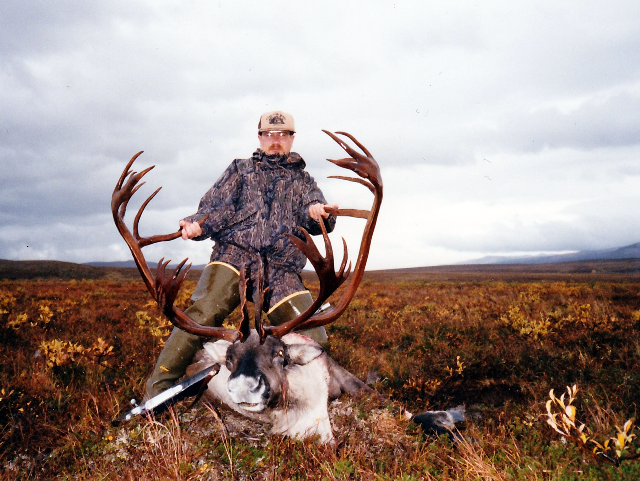 Dave Nelsen, WI, with his B&C record book caribou.  It scored around 420 B&C.