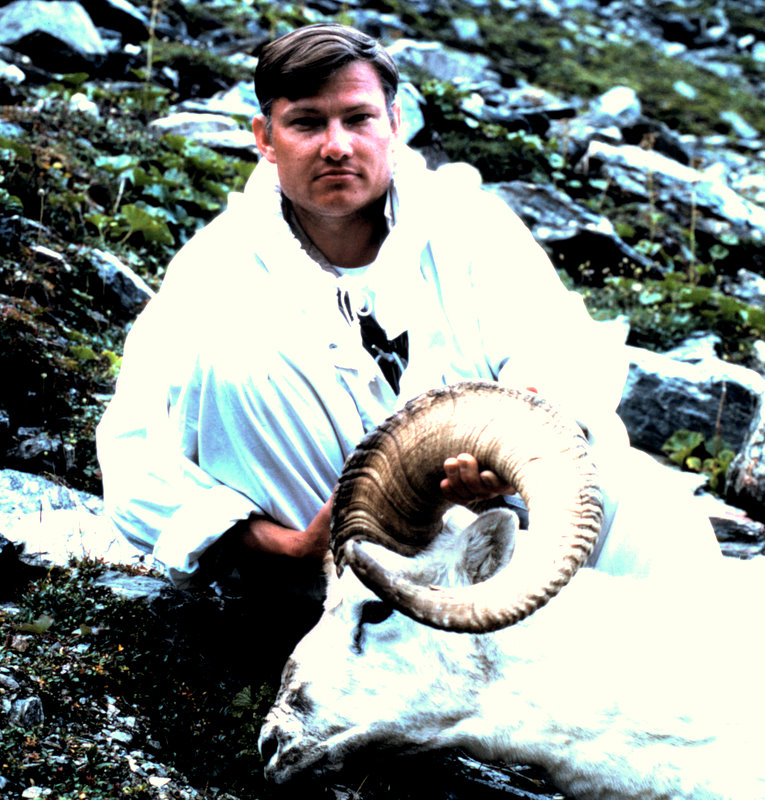 "Ron with his 36"" full curl Tok ram."