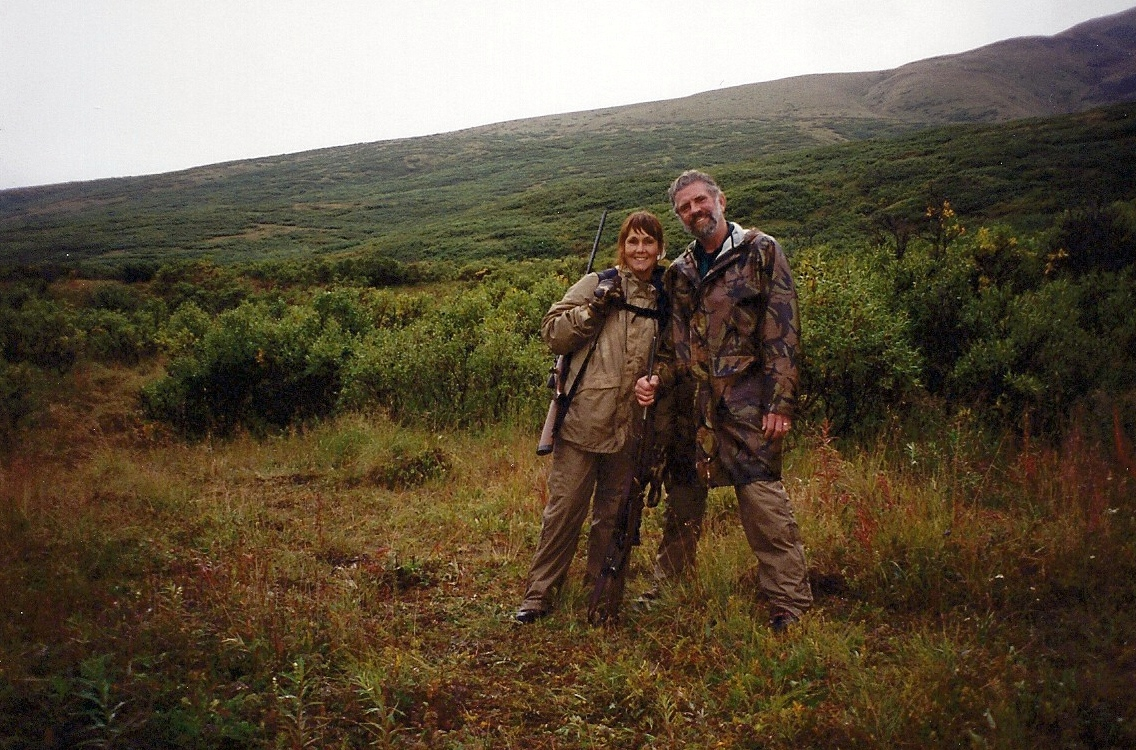 Karen and me on one of our Wrangell Mountain sheep hunts.  A little wet but what great memories!
