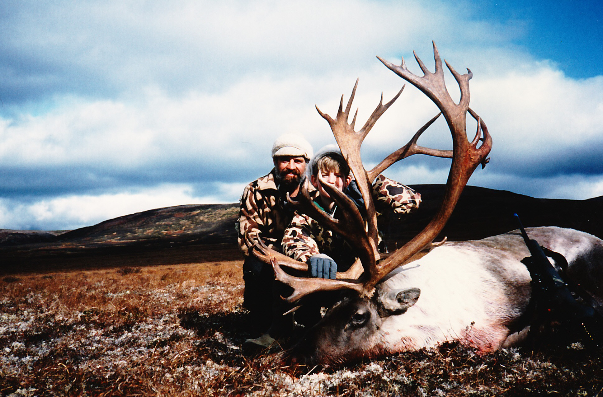 Frank and me with his 399 1/8 B&C caribou. It was a super nice caribou.