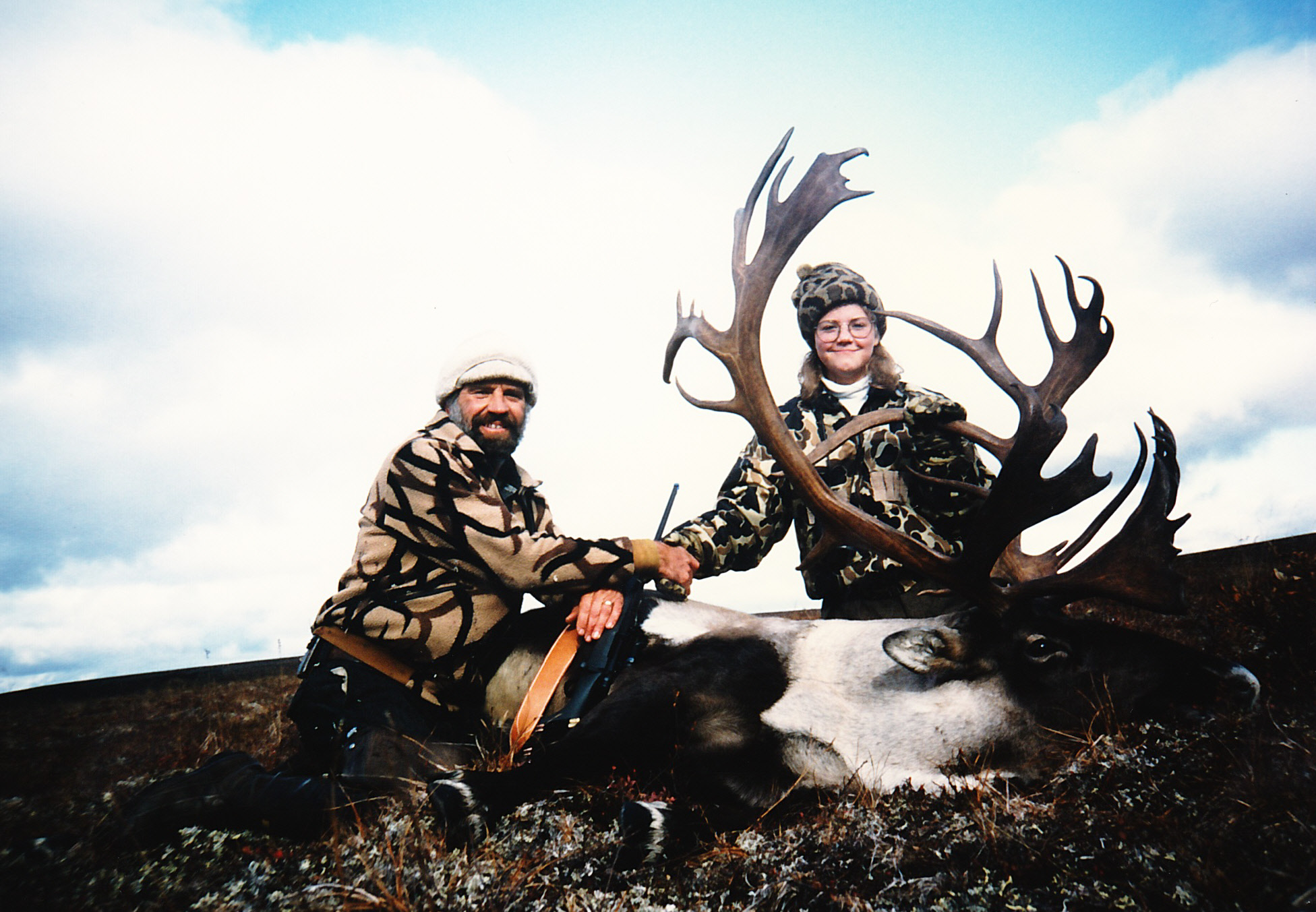 Margaret and me with her beautiful 385 B&C caribou. She made a great shot!