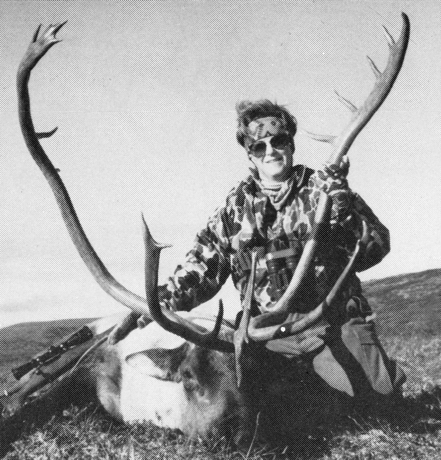 Kathy with her long beamed caribou.