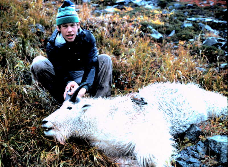 """Bryan, age sixteen, with his 9 1/4"""" billy. Great way to start your hunting career."""