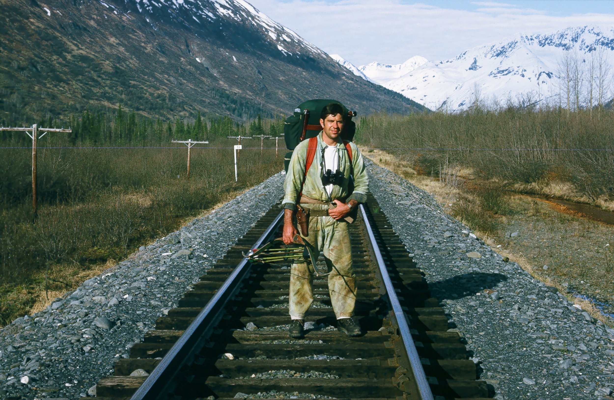 This is where we started our long 10 1/2 mile walk on the railroad tracks. This was one of our spring black bear hunting trips.