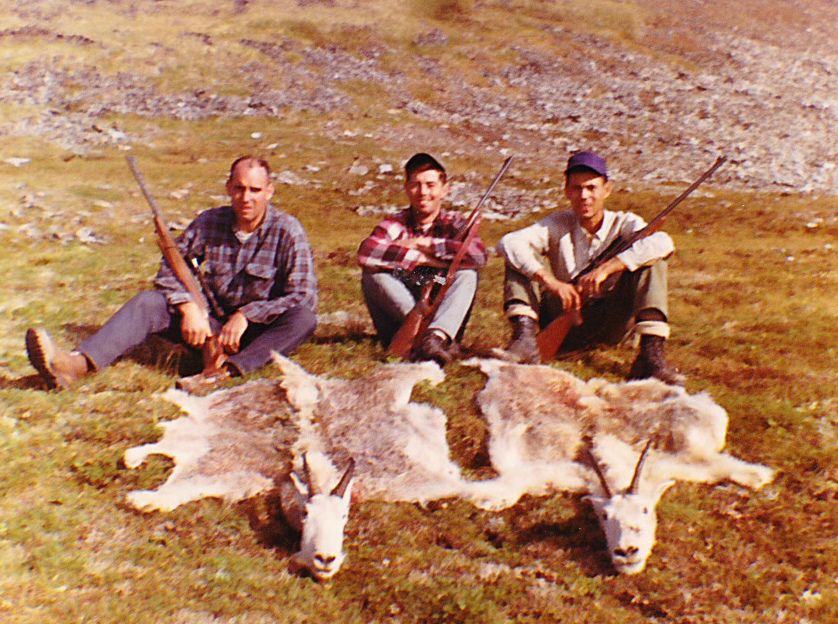 My first Alaska hunting partners   on my first mountain goat hunt. (L to R) Chuck Berry, Gary Wadkins and Phil Sun.