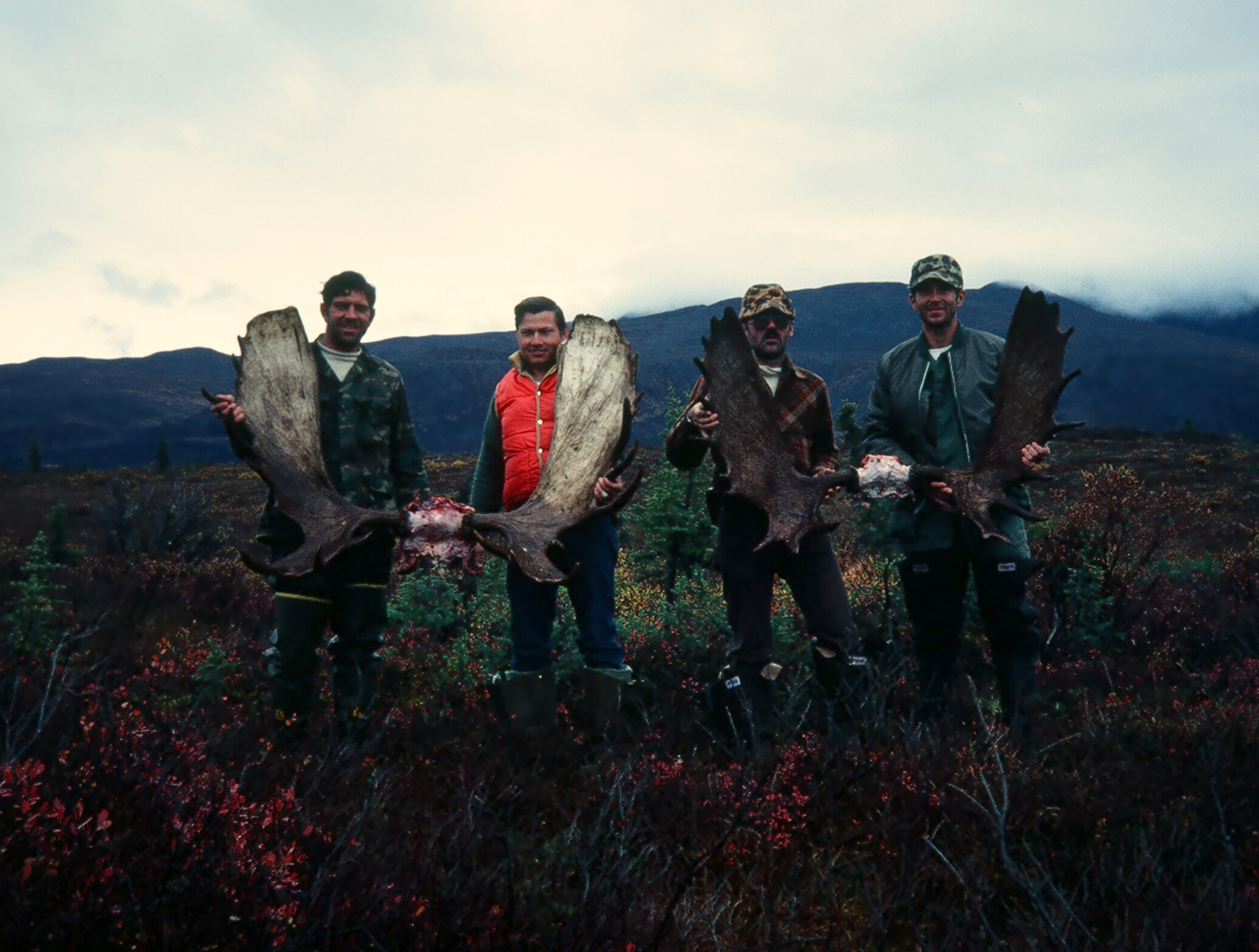 Our second Fog Lakes moose hunt. (L to R) Me, Ron Watts, Earl Boucher and Mike Herbert.