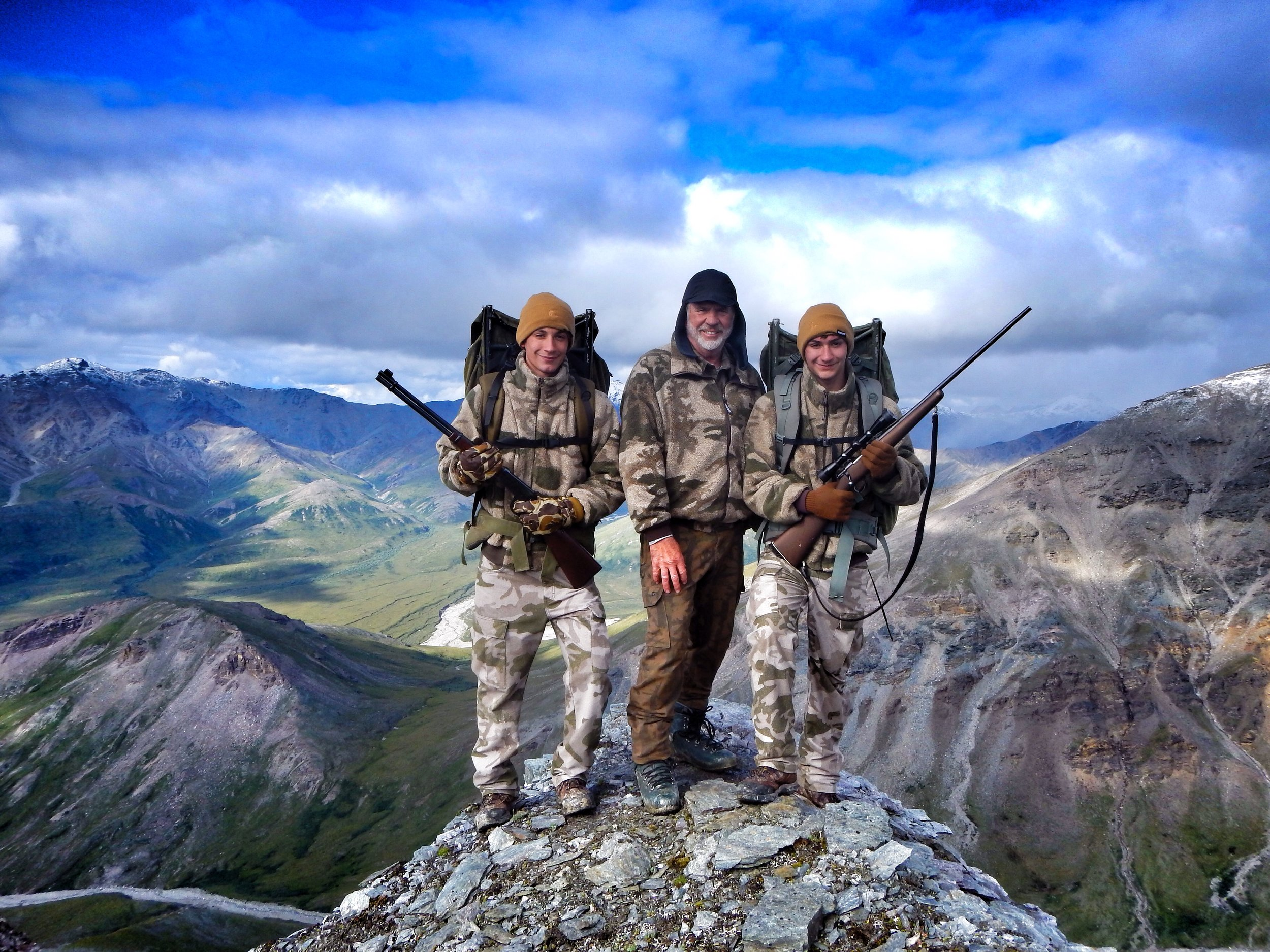 Two of my grandsons Jared on the left and Nathan on the right hunting sheep.