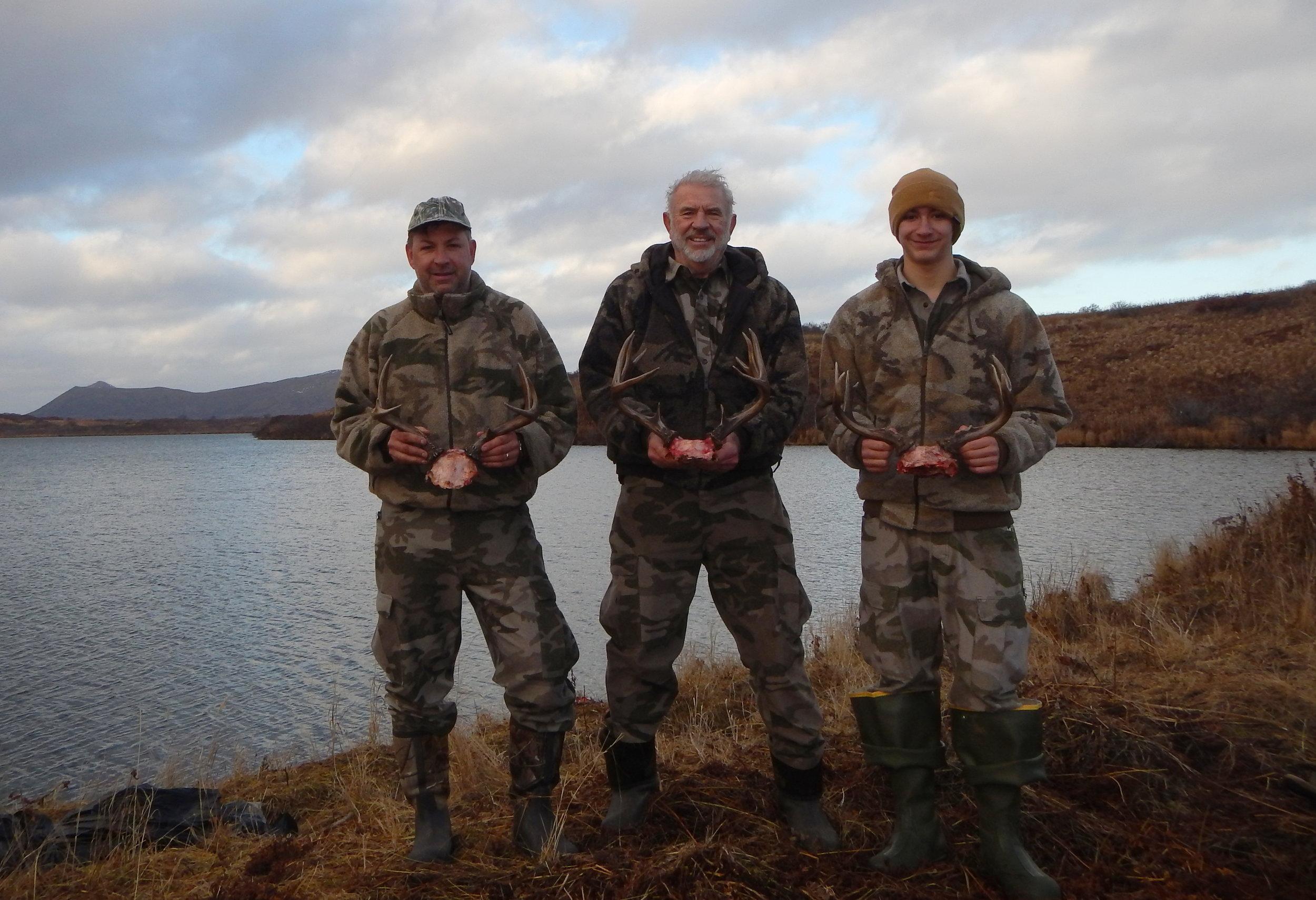 Deer hunt on Kodiak (L to R) Sagen, me and Nathan. Great hunt!