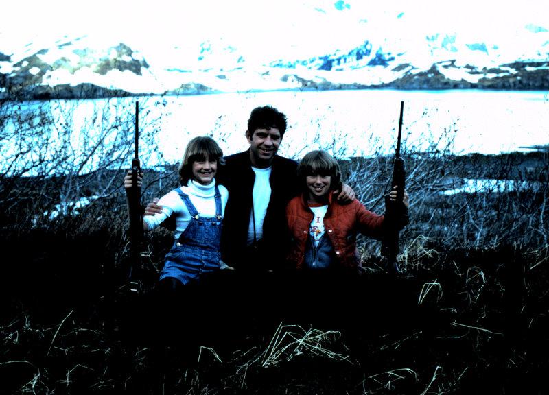 Michelle with her black bear, me and her friend Lisa Wirschem.