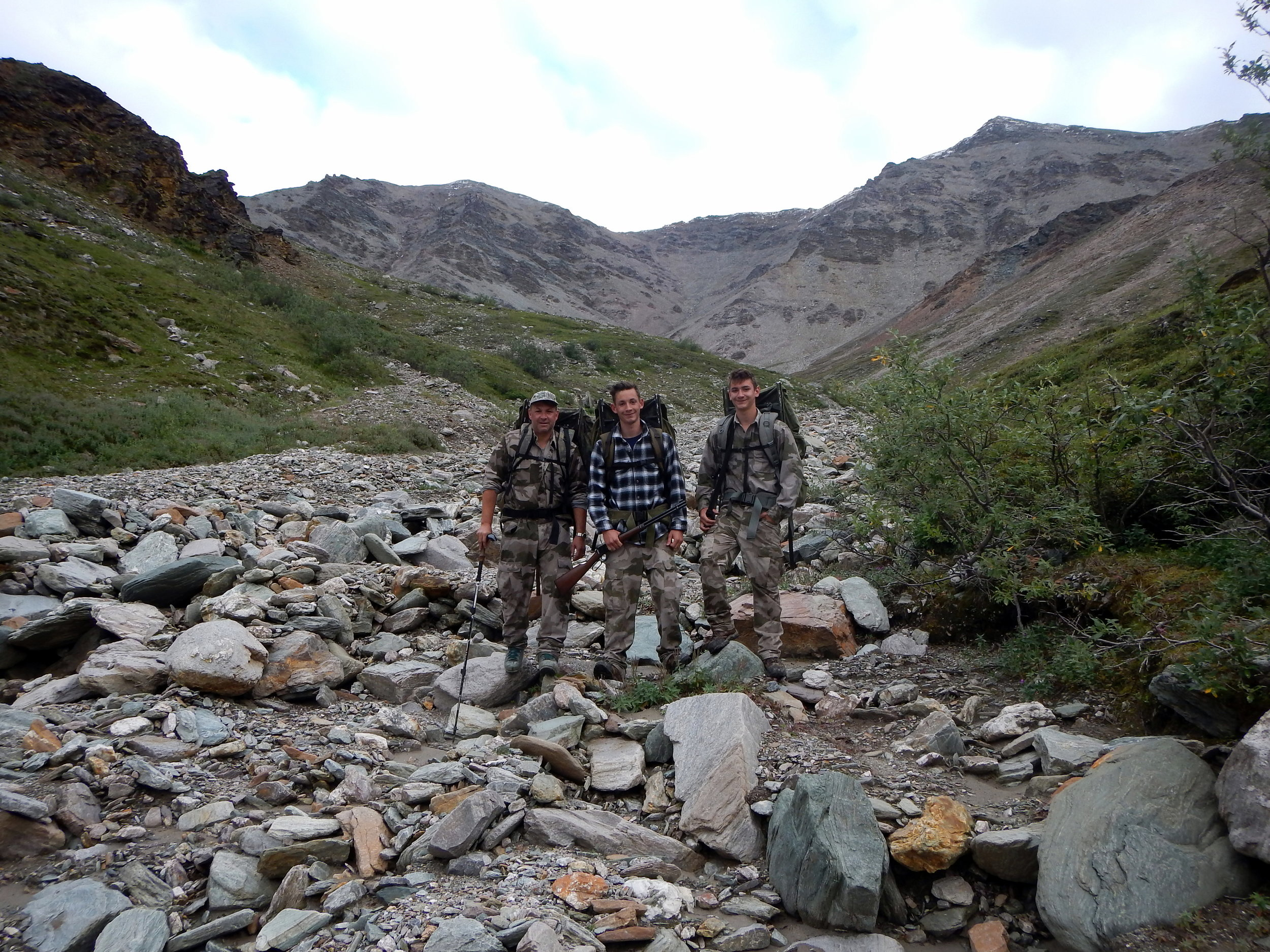 (L to R) Sagen, Jared and Nathan on our way back to camp.
