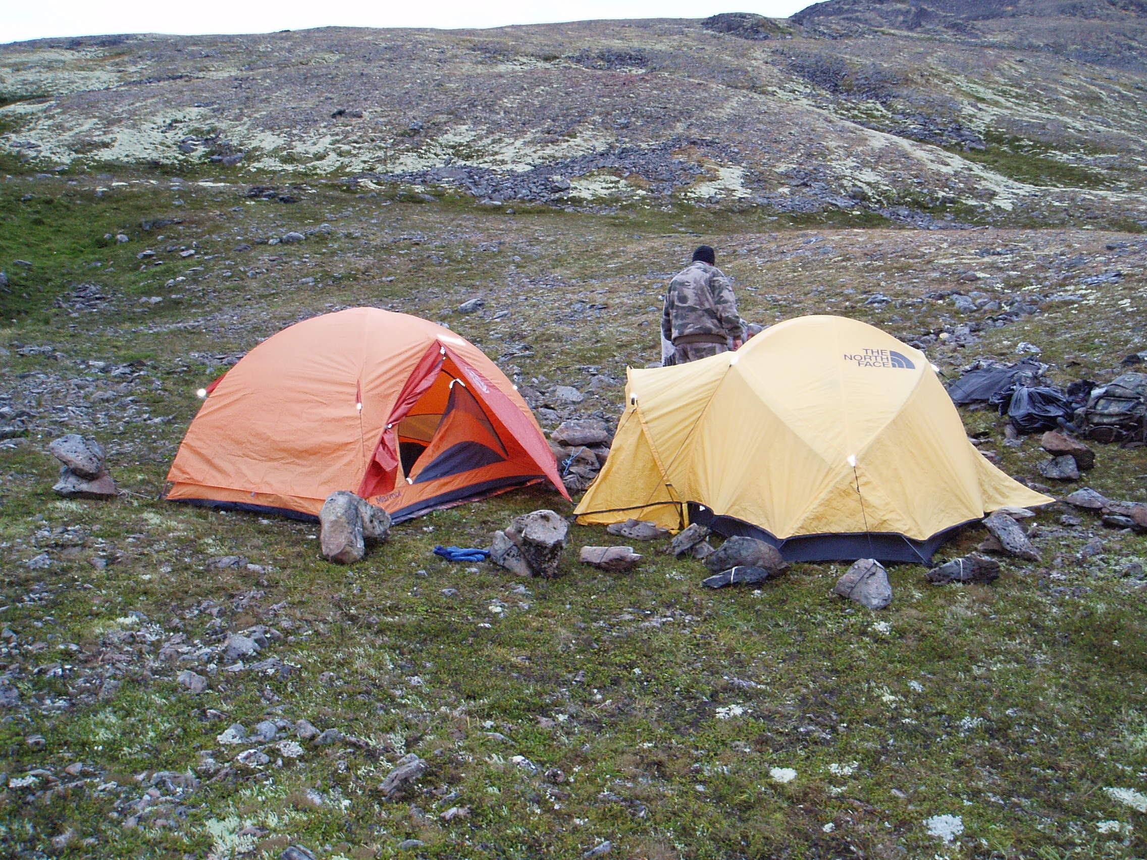 Camp in the pass.