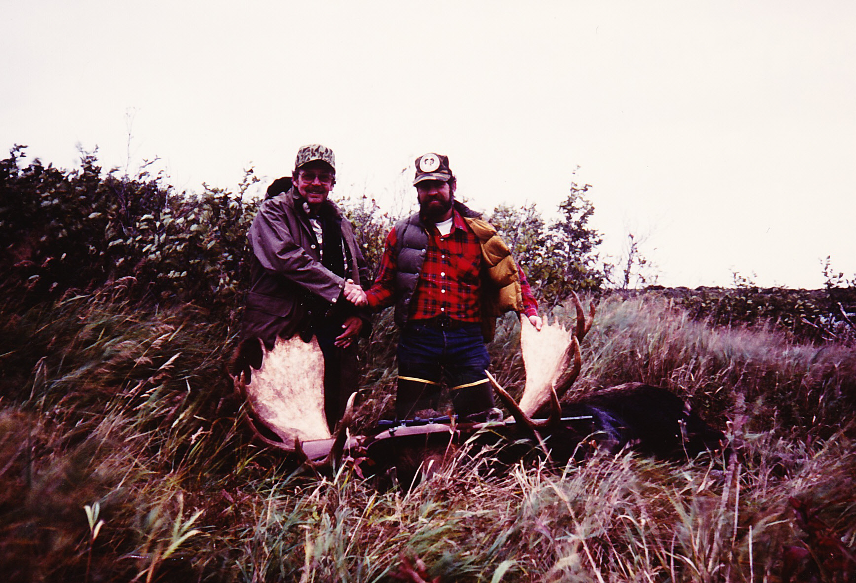 """Tommy Smith and me with his 61 1/2"""" moose."""