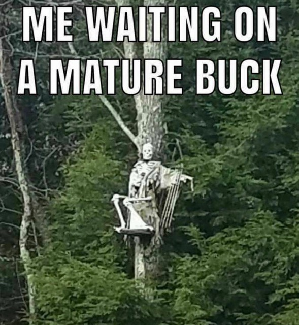 Karen sent this to be on my last hunt which depicts the way I felt in my early deer hunting days. (Photo Hunting USA)