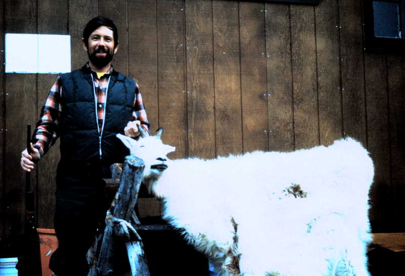 John-Edward Alley from FL with his mountain goat back at Bryson Bar.