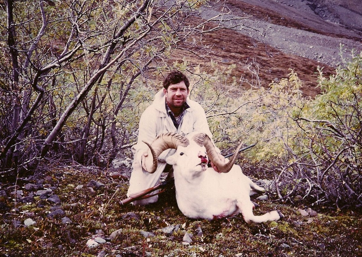 """My beautiful 41"""" ram. This is the first ram that I harvested on the lower mountain."""