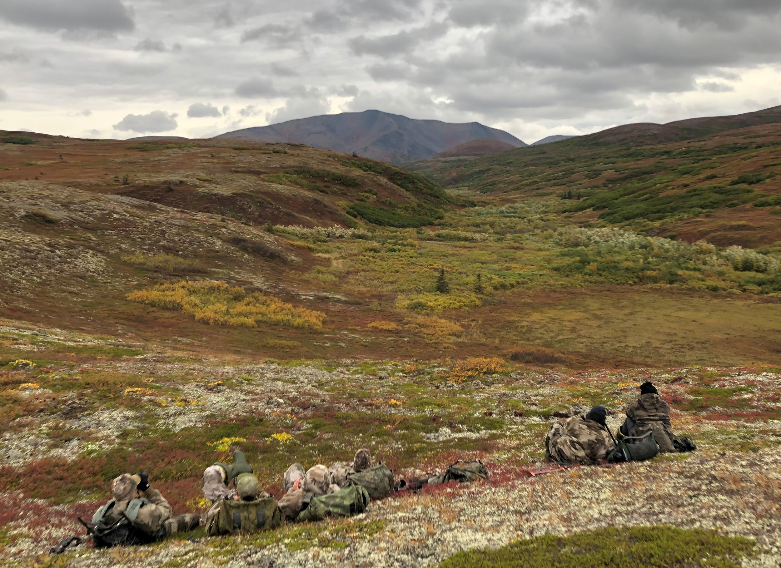 Glassing for moose and caribou right before the storm hit.