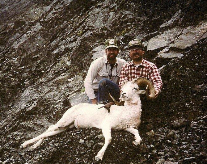 "Tom Heller with his 36 1/2"" ram taken back in '85."