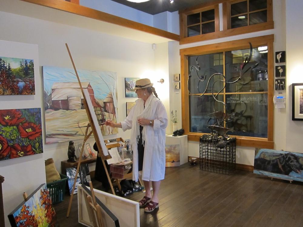 Art Demo Days Summer 2014 <br> White Dog Gallery, Whistler, BC