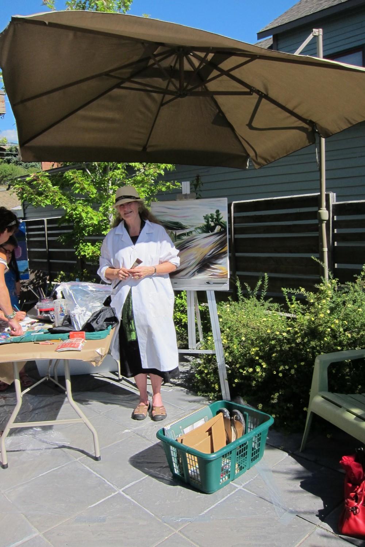 Art Demo Days,  Summer 2014 <br>  Effusion Art Gallery, Invermere, BC