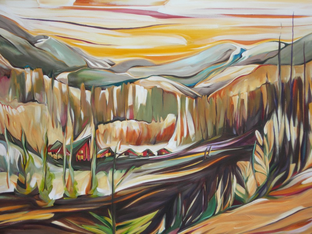 First Prize in NSCAC Rental Jury <br> Sunrise at Mountain Hideaway #2 January 2015 <br> Cityscape Gallery, North Vancouver, BC