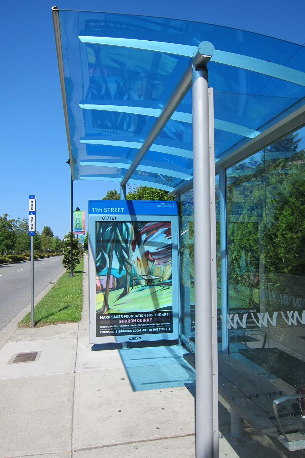 Harmony Arts Bus Shelter Project, West Vancouver, BC