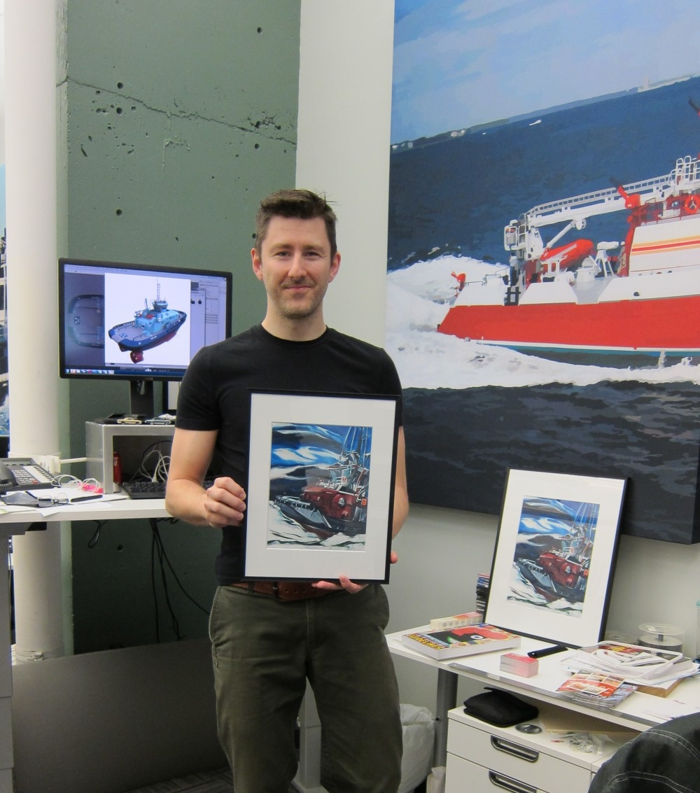 Promotional Print Project  May 2015 <br> Workboat #2 (Westward), Robert Allan Ltd <br> Naval Architects and Marine Engineers,Vancouver, BC