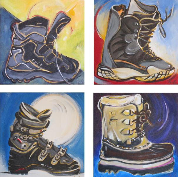 Snow Shoe Boot #1, Board Boot #1, Ski Boot #1, Snow Boot #1 (Tile Series)