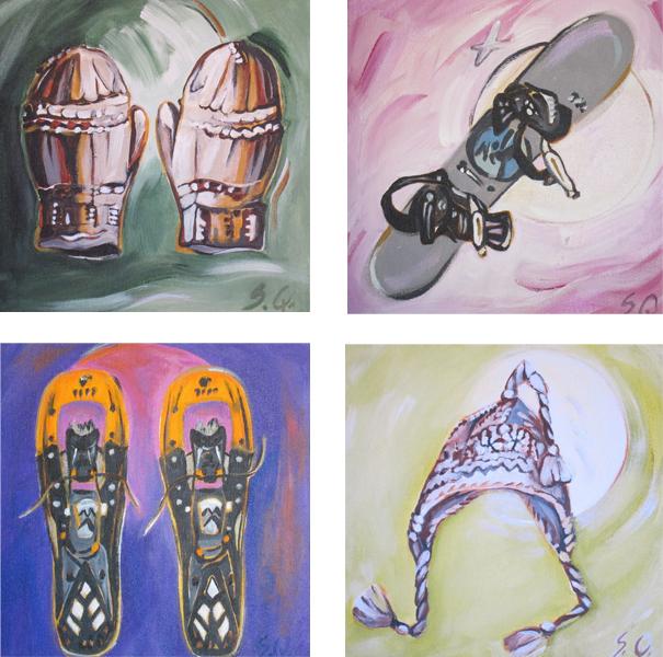 Cozy Mitts #1, Millenium Board, #1,Woolen Hat (Tile Series)