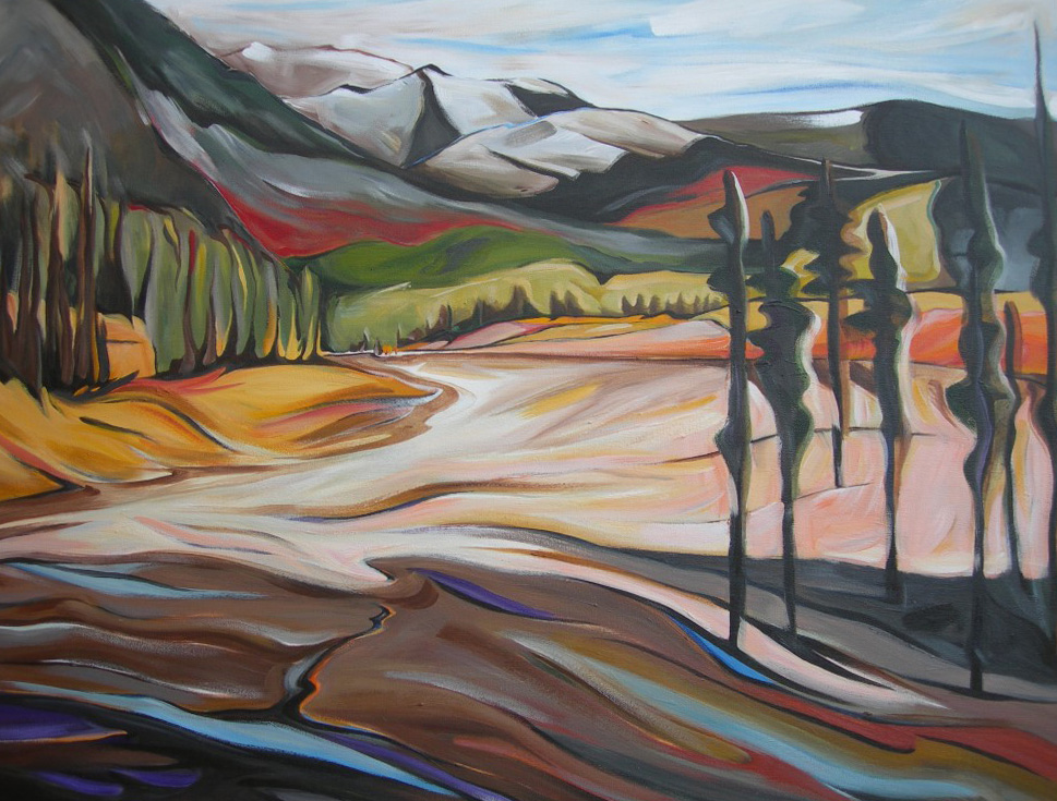 Mountains - Grey Wolf at Panorama (Panorama Series #1)  30 X 40  SOLD (1000 x 750).jpg