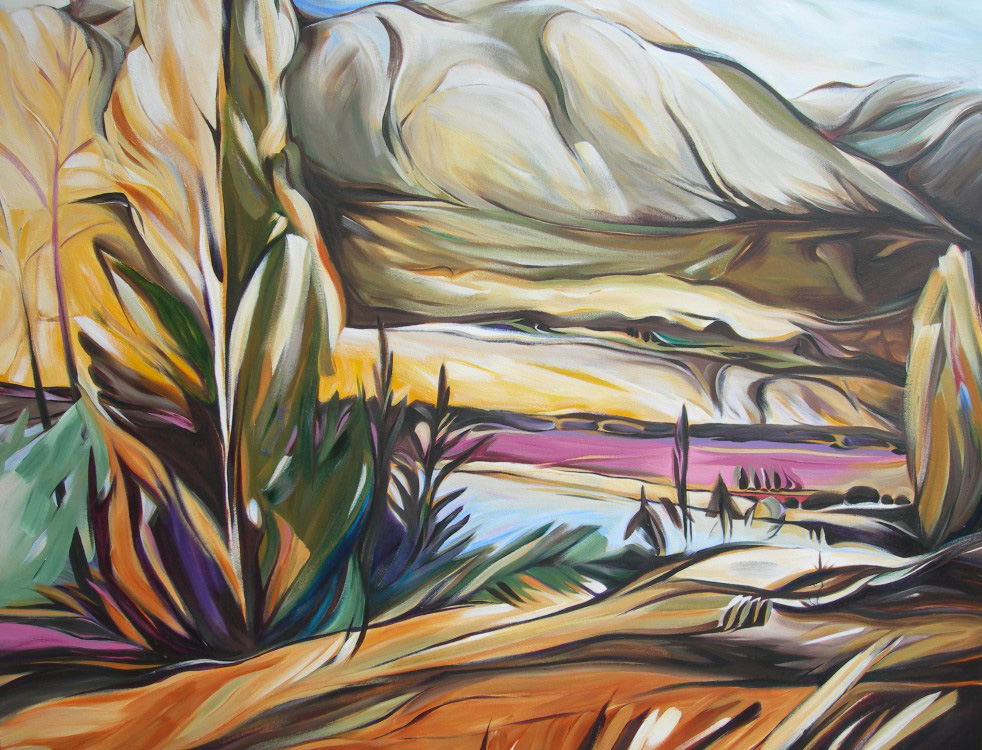 Mountains - Lake Country (Eastern Series #1)  54 X 54  SOLD (1000 x 750).jpg