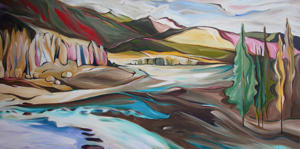 Mountains - Spring at Grey Wolf (Panorama Series #3)  24 X 48  SOLD (1000 x 750).jpg