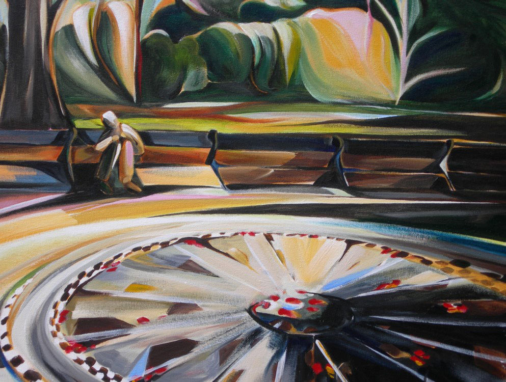 Cityscapes - Strawberry Fields (NYC Series)  26 X 26  SOLD (1000 x 750).jpg