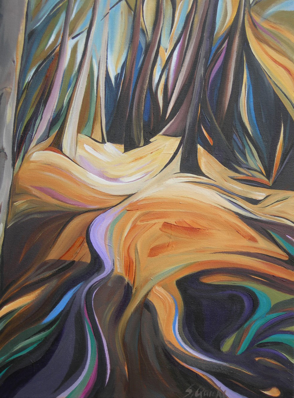 BC Gold Landscapes - Fern Forest  24 X 18  SOLD (1000 x 1333).jpg