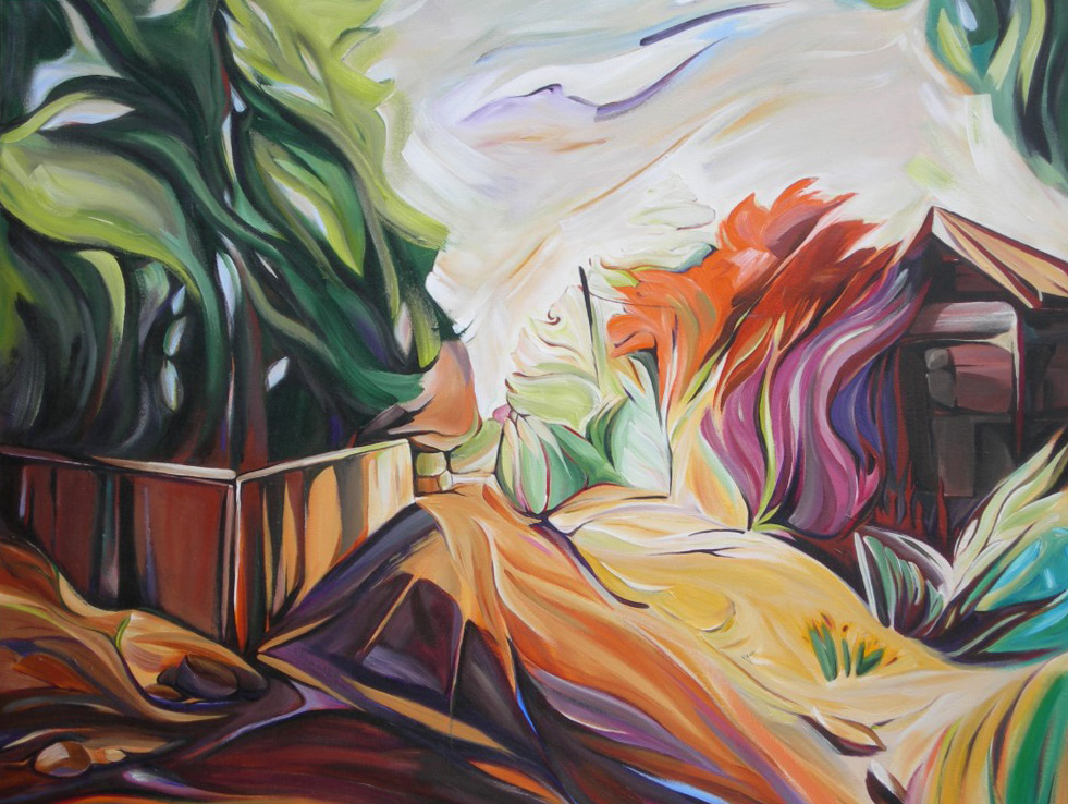 BC Gold Landscapes - NYC - Sweet Evergreen (From the Dust Series)   48 X 48  SOLD (1000 x 750).jpg