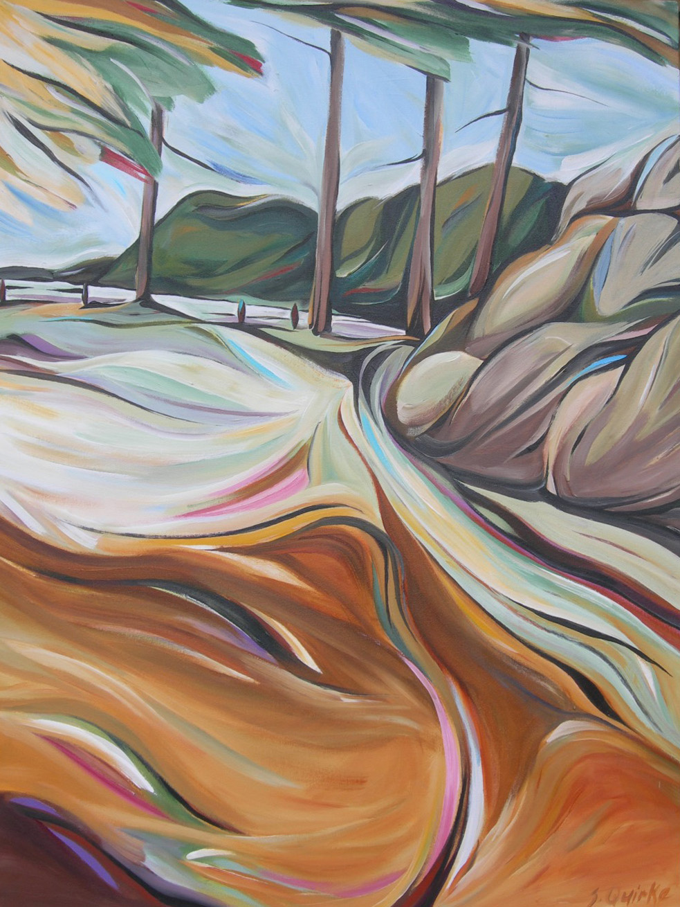 BC Gold Landscapes - Rathtrevor Shadow  40 X 30  SOLD (1000 x 1333).jpg