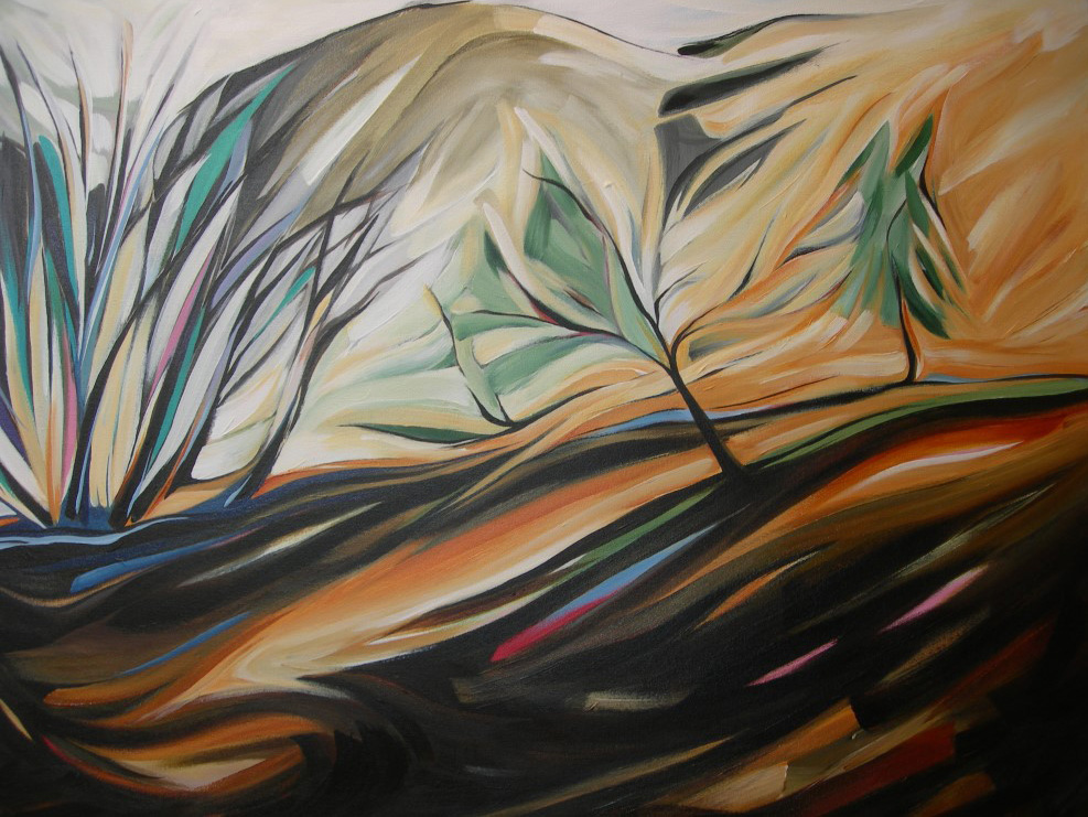 BC Gold Landscapes - Winter Morning Maple  30 X 40  SOLD (1000 x 750).jpg