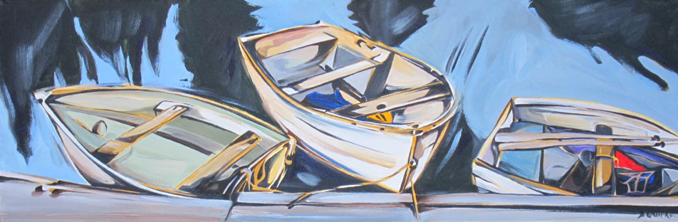 Wooden Boat 2013 - 8 - Walker Bay Dinghy and Company - Deep Cove (WBS #!) 12 X 36  SOLD (1000 x 561).jpg