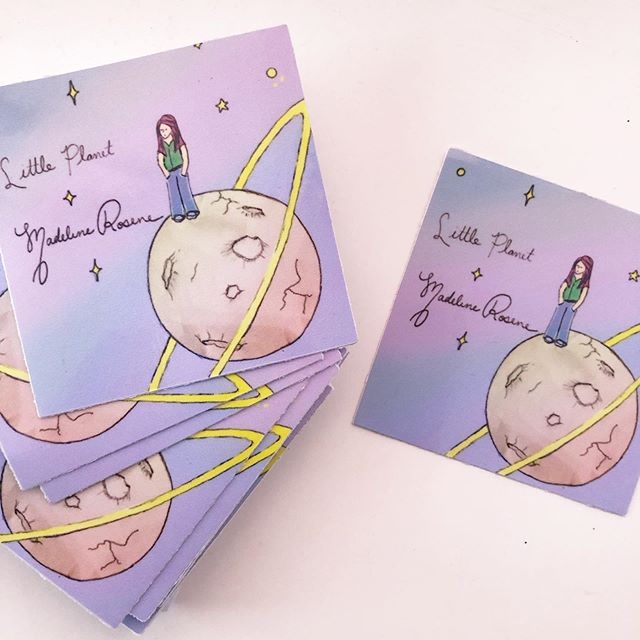 Stickers for my new single, Little Planet... coming soon! :) . . . . . #littleplanet #madelinerosene #single #singleart #merch #sticker #stickers #artist #indieartist #art #music #musician #indiemusic #madelinerosene #independentmusic #supportmusic #musicfan