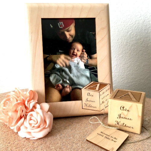 Personalized Baby Block and Picture Frame from Carft-E-Family