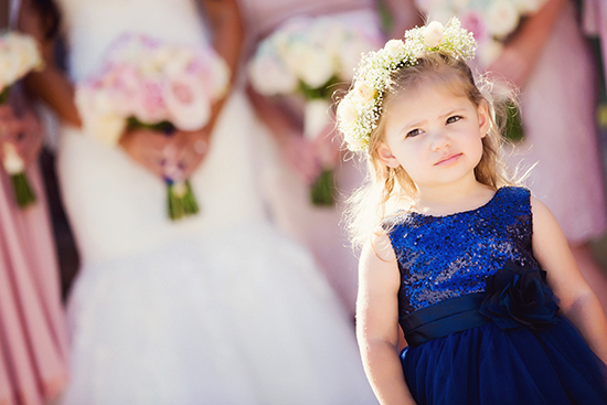 Our beautiful niece, Audrey, serving as our flower girl.