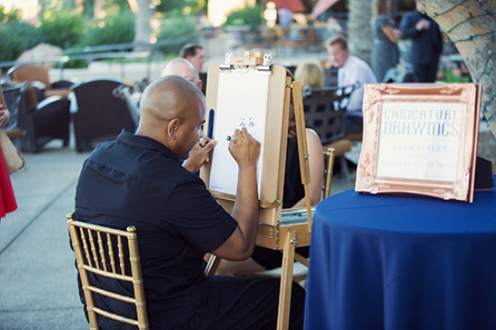 The very talented Adam Street from  Sketch My Wedding  did caricature drawings as wedding favors.