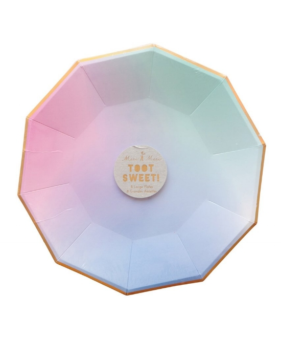 Pastel Ombre Party Plates from  Oh Happy Day!