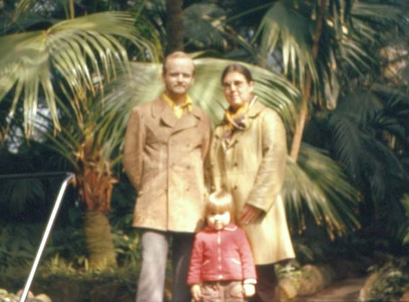 Mom, Dad, and Jennifer in Vienna, 1978