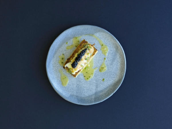 Champagne lobster French toast, sterling caviar, finger lime - Aria Sydney.jpg